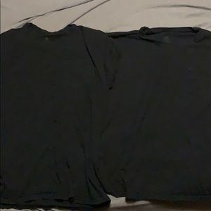 2 medium black shirts.